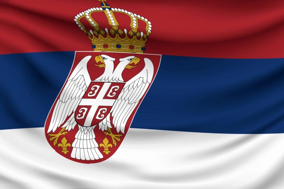 szerb zászló
