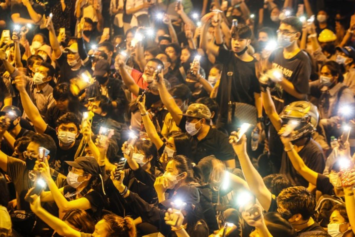 thaiföldi tüntetés