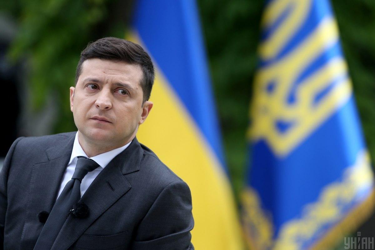 Zelenszkij ukrán zászló