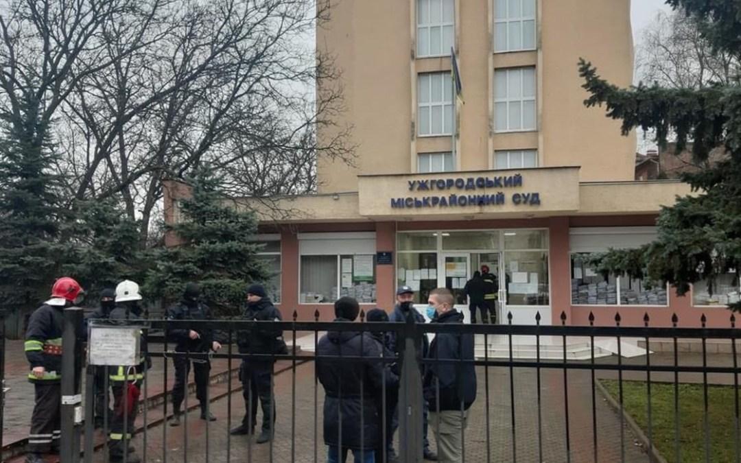 Bombariadó az Ungvári Járási Bíróságon