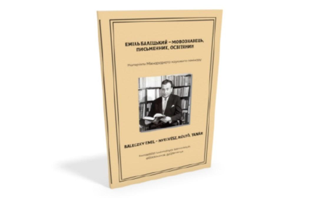 Könyvajánló: Baleczky Emil – nyelvész, költő, tanár