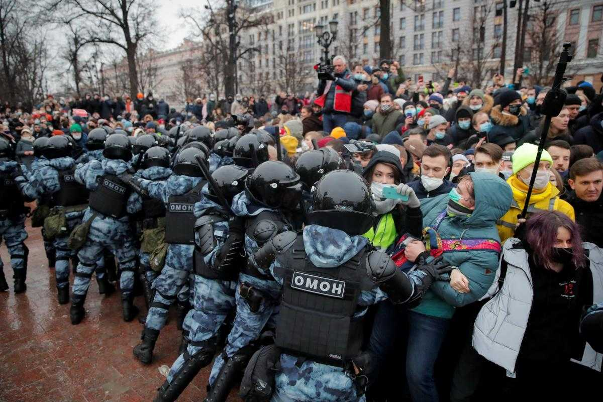 oroszországi tüntetés
