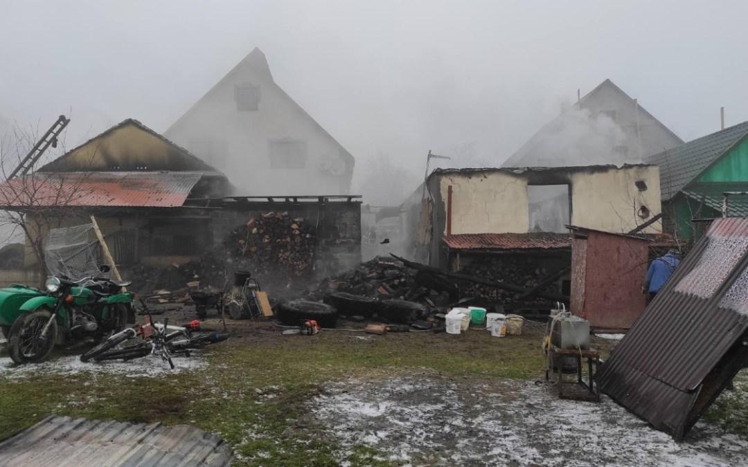 Tűz pusztított a Huszti járásban