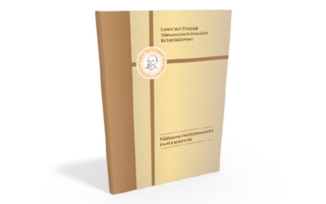 Könyvajánló: Társadalomtudományi Tanulmányok