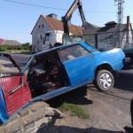 Árokba borult egy autó Beregrákoson