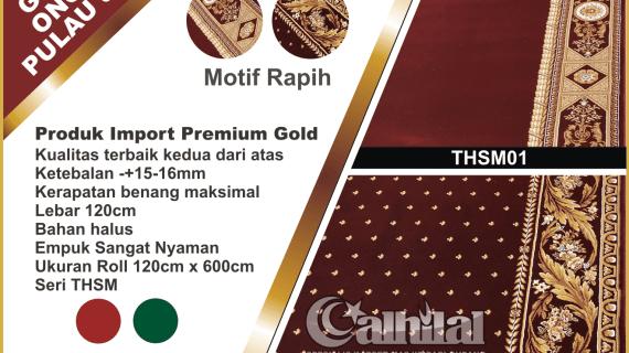 "Karpet masjid premium gold tebal merah<span class=""rmp-archive-results-widget rmp-archive-results-widget--not-rated""><i class="" rmp-icon rmp-icon--ratings rmp-icon--star ""></i><i class="" rmp-icon rmp-icon--ratings rmp-icon--star ""></i><i class="" rmp-icon rmp-icon--ratings rmp-icon--star ""></i><i class="" rmp-icon rmp-icon--ratings rmp-icon--star ""></i><i class="" rmp-icon rmp-icon--ratings rmp-icon--star ""></i> <span>0 (0)</span></span>"