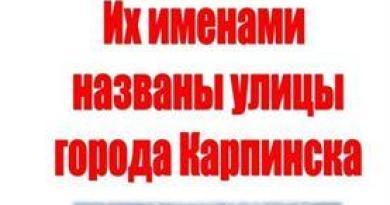 Их именами названы улицы города Карпинска