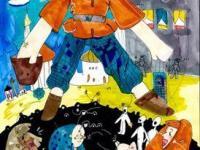 Иллюстрация к сказке Н.Вагнера, скейчмаркеры, Чудный мальчик  Каримова Аня 9 лет