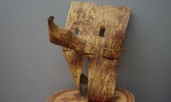Сас нелуп утыт – берестяная маска (ритуальная маска из бересты, вторая половина ХХ века)