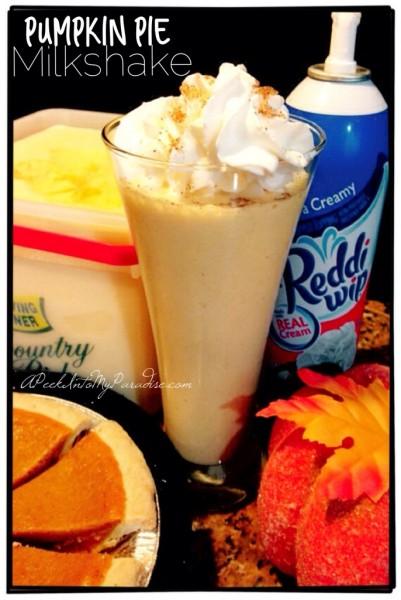 Pumpkin Pie Milk Shake A peek into my paradise 12-9