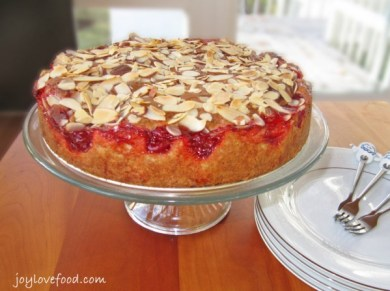 Cherry-Almond-Coffee-Cake- joy love food