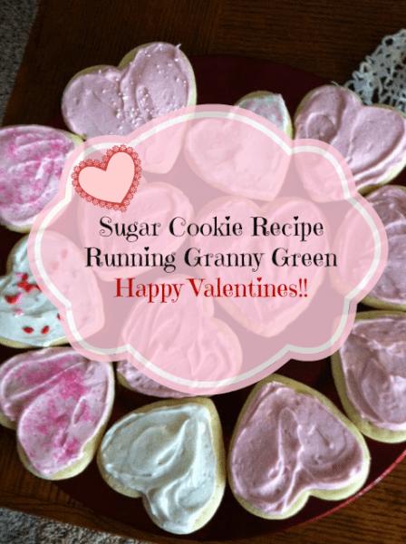 Heart cookies Running Granny Green