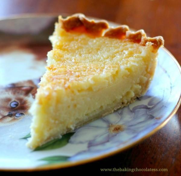 lemon coconut custard pie The Baking Chocolatess