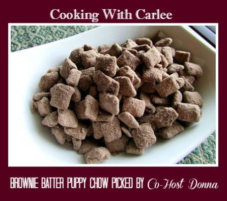 Cooking With Carlee-Brownie Batter Puppy Chow