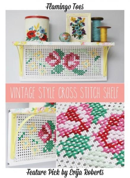 Vintage-Style-Cross-Stitch-Shelf-Evija