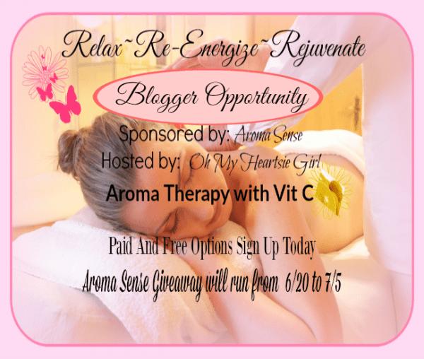 Relax~ Re-Energize~ Rejuvenate Blogger Opportunity