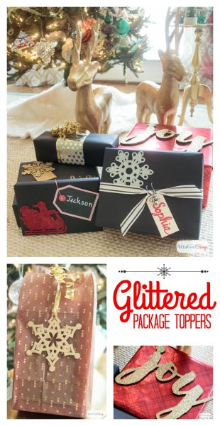 Atta Girl Says Diy-Glittered-Package-Toppers-Gift-Wrapping-Ideas
