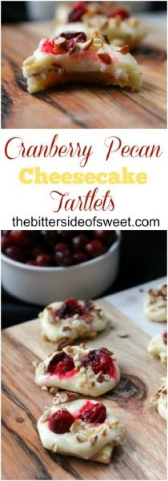 The Bitter Side of Sweet Cranberry-Pecan-Cheesecake-Tartlets