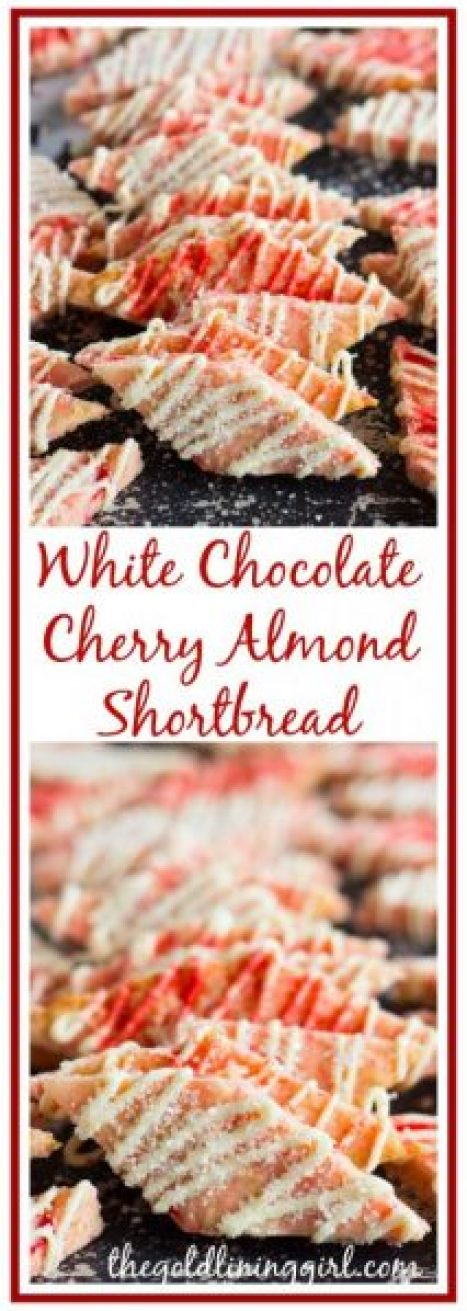 The Gold Lining Girl // White-Chocolate-Cherry-Almond-Shortbread