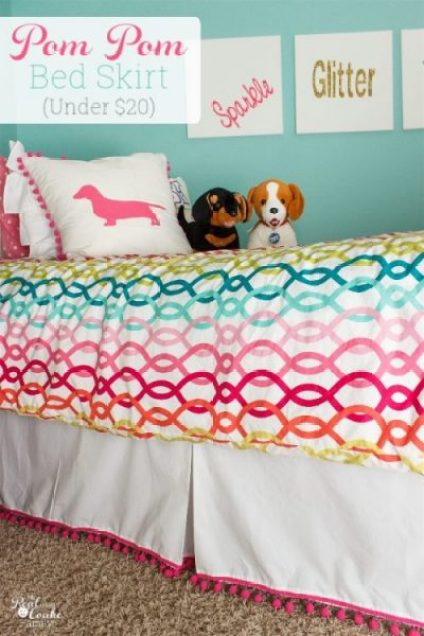 The Real Coake Family Pom Pom Bedskirt