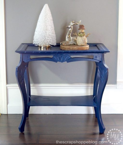 The Scrap Shoppe Painted Side Table Evija