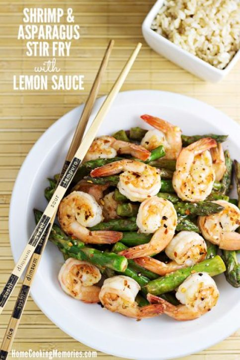 Home Cooking Memories Shrimp-and-Asparagus-Stir-Fry-with-Lemon-Sauce-Recipe
