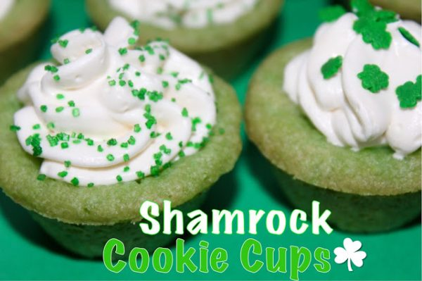 Living on Cloud Nine Shamrock Cookie Cups