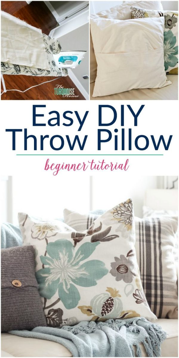 The Turquoise Home Easy DIY Throw Pillows