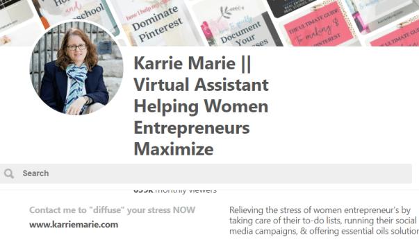 image of Karrie Marie Pinterest profile