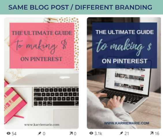 the ultimate guide to making $ on pinterest pin comparison