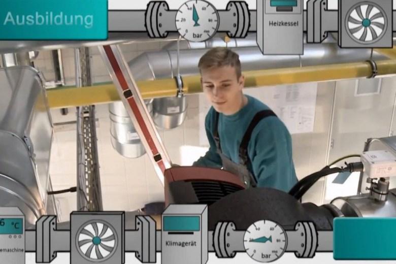 Bild über Azubi der Ausbildungsberufe Gebäudetechnik.