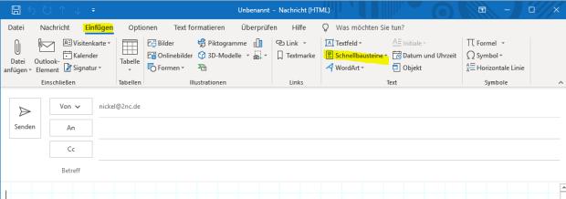 Microsoft Office Schnellbausteine