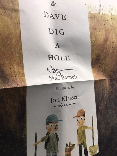 Poster signed by Mac Barnett and Jon Klassen