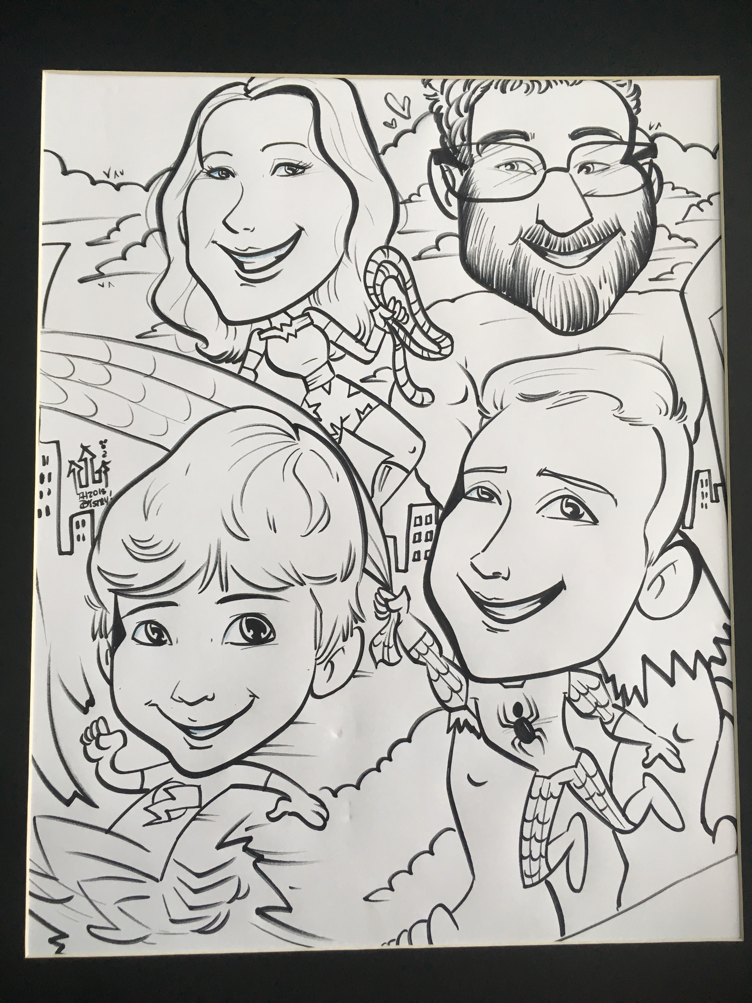 Our Family Caricature