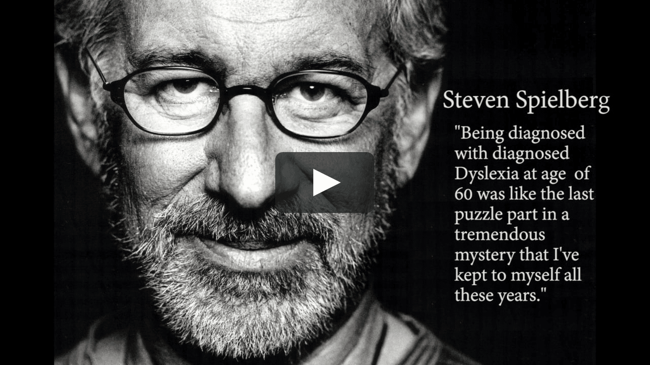 Spielberg quote on dyslexia