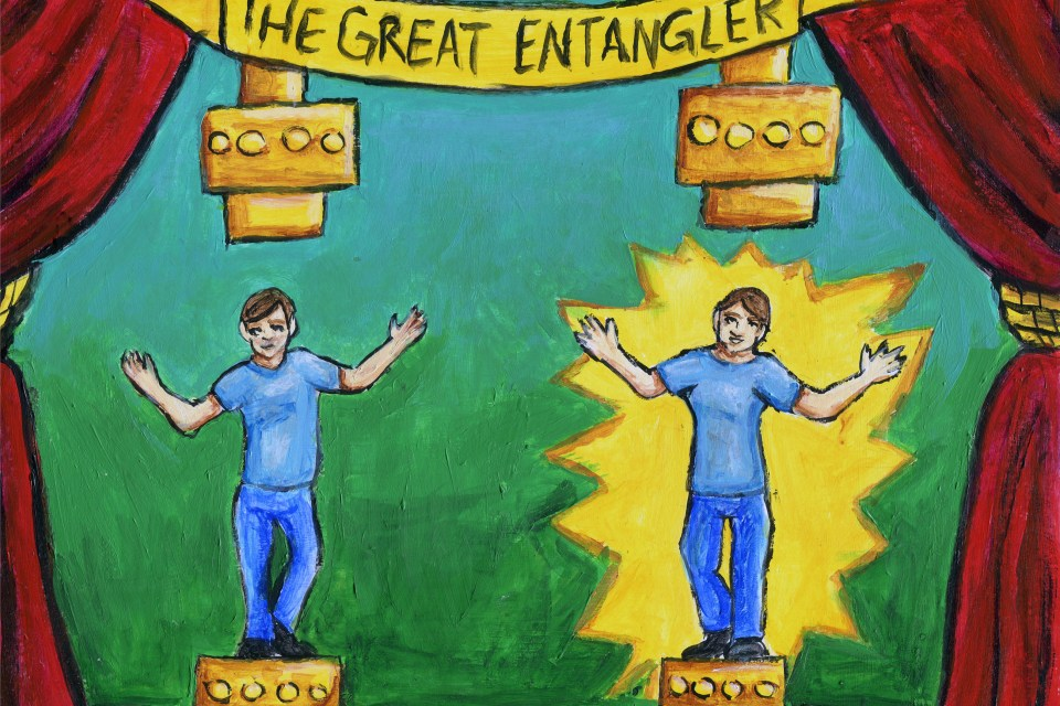 The Great Entangler, an interactive exhibit inspired by Quantum Entanglement.