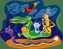 'Halloween Procession'by Lyuda Lavrentyeva