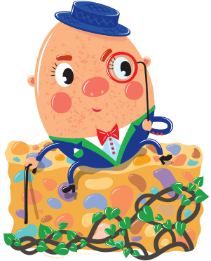 Humpty Dumpty illustration by Lyuda Lavrentyeva