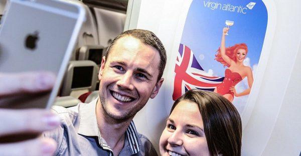 Virgin Atlantic selfie