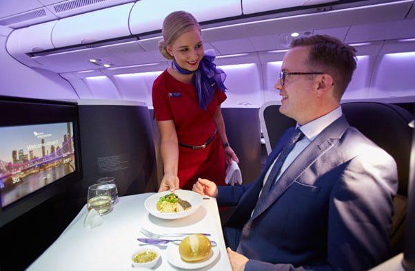 Virgin Australia The Business food