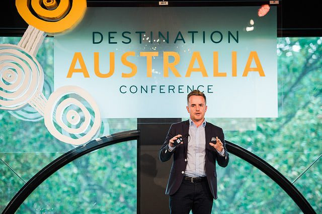 Facebook's Paul McCrory speaking at Destination Australia