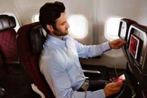 Qantas inflight wi-fi feature