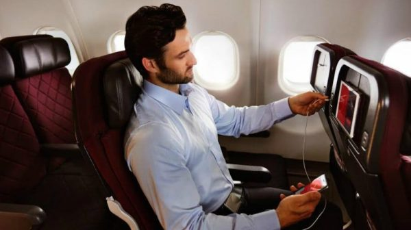 Qantas inflight wi-fi feature