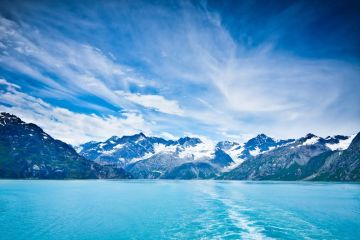 Glacier Bay in Mountains, Alaska, United States
