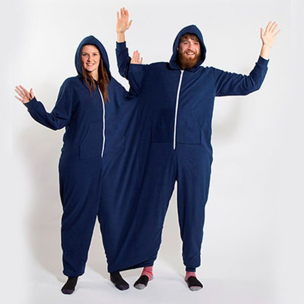 The twin onesie. Too much?