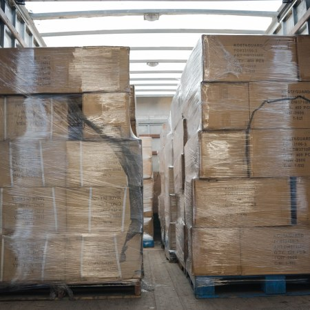 Newly arrived cases of respiratory masks