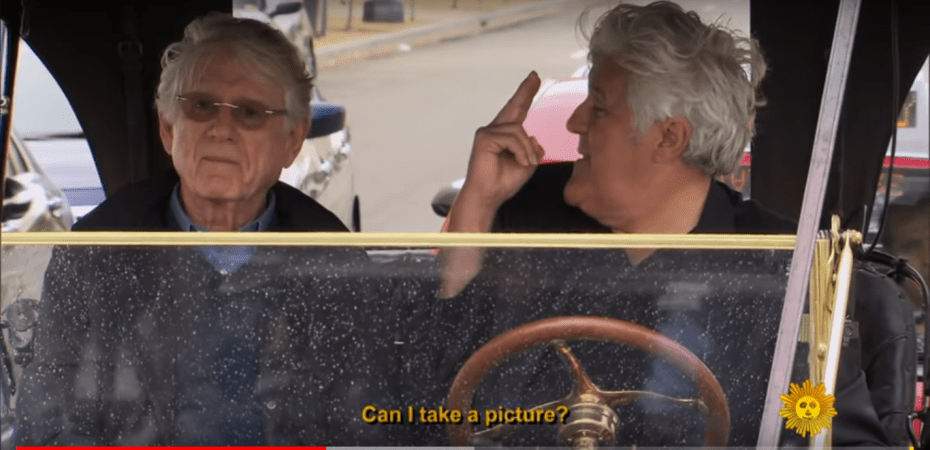 Jay Leno and Ted Koppel in 1909 Model T Ford