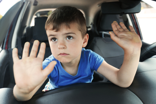 child left behind in car