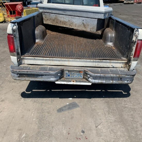 Pickup truck emptied of dirt on way to be donated