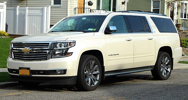 2015 Chevy Suburban, one of the five oldest car models still in production. Kevauto, CC BY-SA 4.0 <https://creativecommons.org/licenses/by-sa/4.0>, via Wikimedia Commons